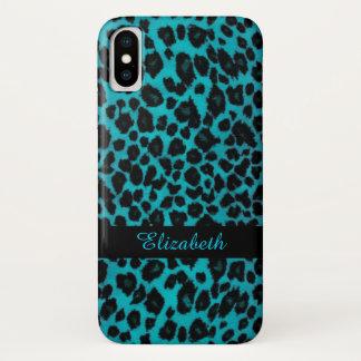 Turquoise Leopard Animal Print Case