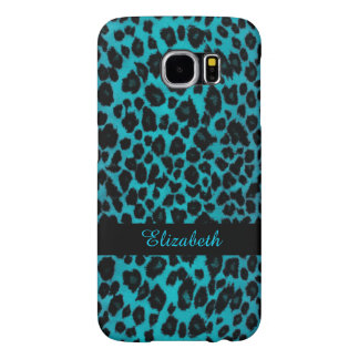 Turquoise Leopard Animal Print Galaxy S6 Case