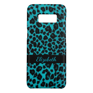 Turquoise Leopard Animal Print Galaxy S8 Case