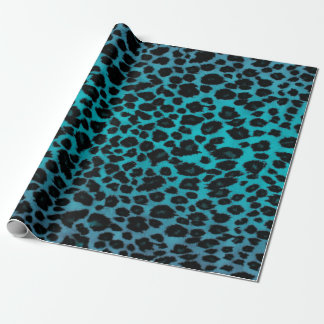 Turquoise Leopard Print