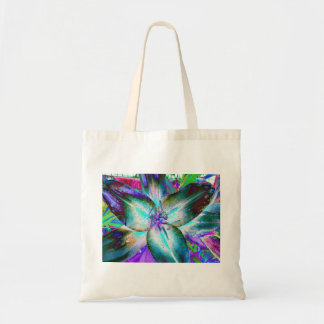 Turquoise Lily Tote Bag