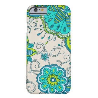 Turquoise & Lime Floral Barely There iPhone 6 Case