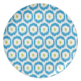 Turquoise & Lime iKat Plate