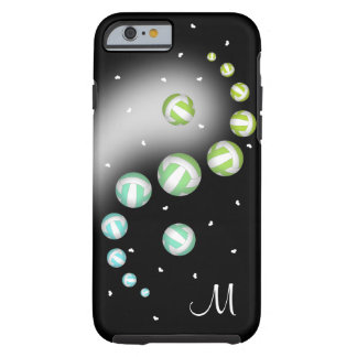 turquoise lime volleyball yin yang monogram tough iPhone 6 case