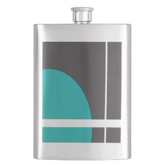 Turquoise Line Hip Flask