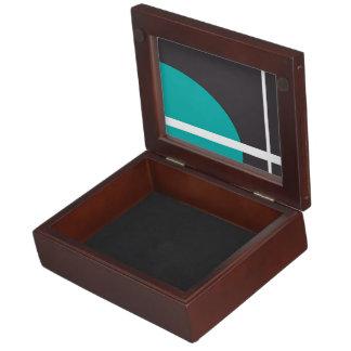 Turquoise Line Keepsake Box
