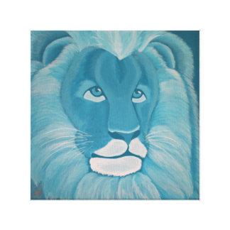 Turquoise Lion Canvas Print