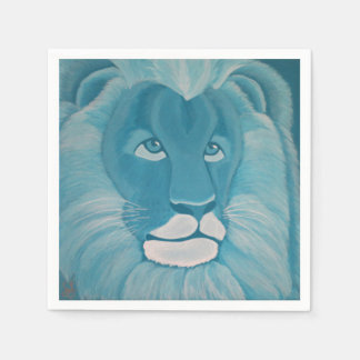 Turquoise Lion Napkins Disposable Napkins