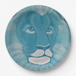 Turquoise Lion Paper Plates