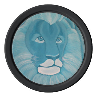 Turquoise Lion Poker Chips