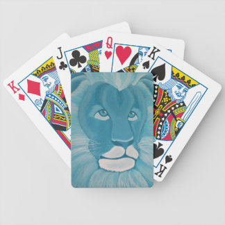 Turquoise Lion Poker Playing Cards