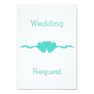 Turquoise Maid Of Honour Request Card
