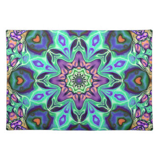Turquoise Mandala Abstract Placemat