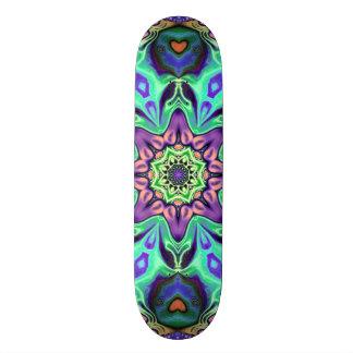 Turquoise Mandala Abstract Skate Board