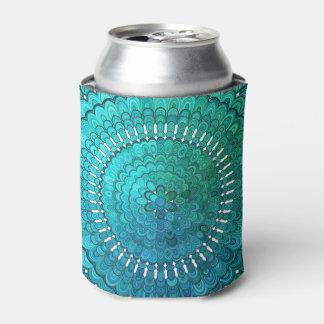 Turquoise Mandala Can Cooler