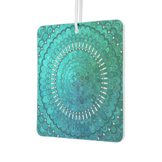 Turquoise Mandala Car Air Freshener