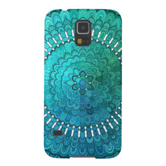 Turquoise Mandala Case For Galaxy S5