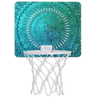 Turquoise Mandala Mini Basketball Hoop