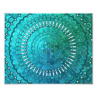 Turquoise Mandala Photo Print