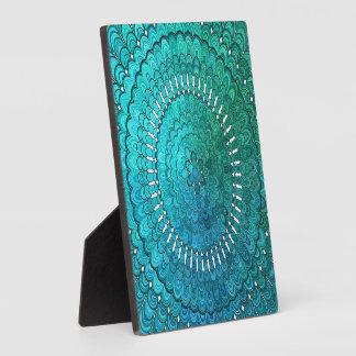 Turquoise Mandala Plaque