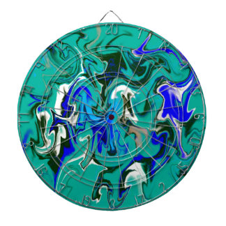 Turquoise marble texture dartboards