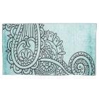 Turquoise Mehndi Motif Pillow Case