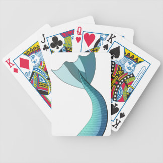 Turquoise Mermaid Tail V2 Bicycle Playing Cards