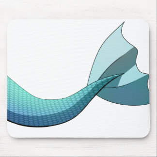 Turquoise Mermaid Tail V2 Mouse Pad
