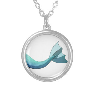 Turquoise Mermaid Tail V2 Silver Plated Necklace