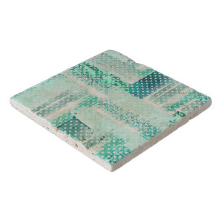 Turquoise, mint, tiffany blue themed design trivets