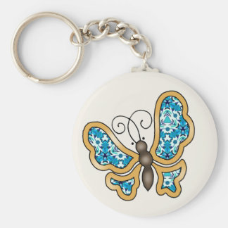 Turquoise Mix & Match Collectables - 15 Basic Round Button Key Ring