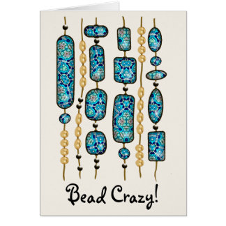 Turquoise Mix & Match Collectables - 1 Greeting Card