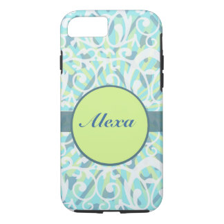 Turquoise Mod Baroque Personalizable iPhone 7 Case