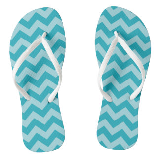 Turquoise Moroccan Moods Chevrons Thongs