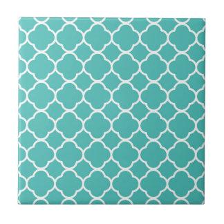 Turquoise Moroccan Pattern Ceramic Tile