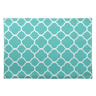Turquoise Moroccan Pattern Placemat