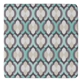 Turquoise Moroccan Pattern Trivet