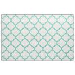 Turquoise Moroccan Trellis Pattern Fabric
