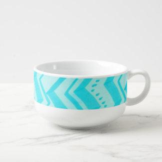 Turquoise motif - Soup Mug