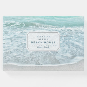 Hotel Beach House Bed and Breakfast Guest Book: Seashell Lake House Vacation Guest Book to Sign In Guest House Airbnb Ocean