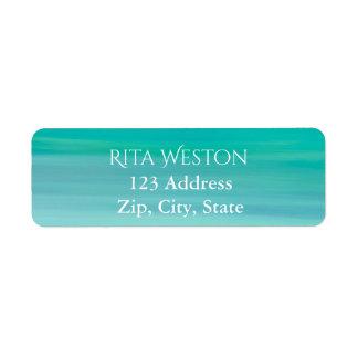 Turquoise ocean sea water address return label return address label