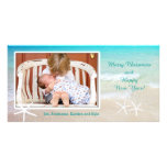 Turquoise Ocean Tropical Holiday Photo Cards