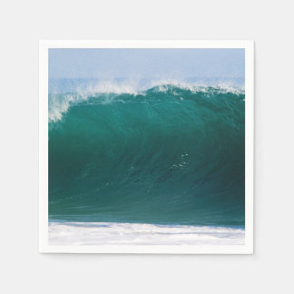 Turquoise Ocean Wave Disposable Napkin