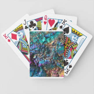 Turquoise Oil Slick Quartz Bicycle Playing Cards