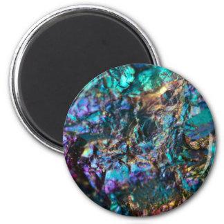 Turquoise Oil Slick Quartz Magnet