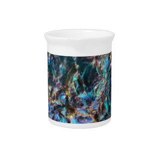 Turquoise Oil Slick Quartz Pitcher