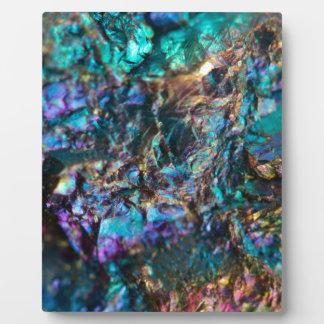 Turquoise Oil Slick Quartz Plaque