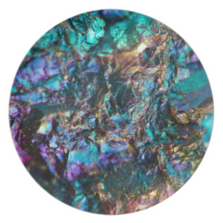 Turquoise Oil Slick Quartz Plate