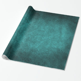 Turquoise Old World Faux Leather Wrapping Paper