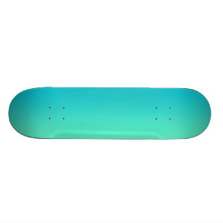 Turquoise Ombre 20.6 Cm Skateboard Deck